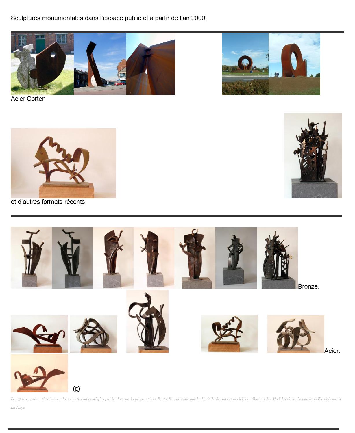 apercu dernières sculptures